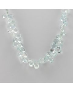Aquamarine Faceted - 1 Line - 125.69 carats - 16 inches - (CSNKL1013)