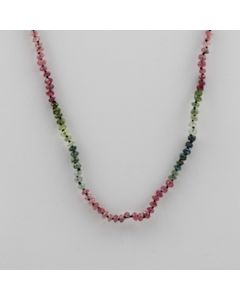 Tourmaline Faceted - 1 Line - 31.50 carats - 15 inches - (CSNKL1019)