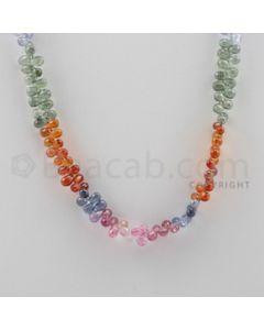 Multi Sapphire Briolettes - 1 Line - 112.50 carats - 17 inches - (MSDF1003)