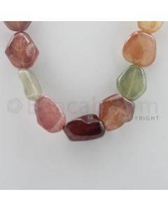 Multi-Sapphire Tumbled - 1 Line - 812.00 carats - 17 inches - (MSTUB1007)