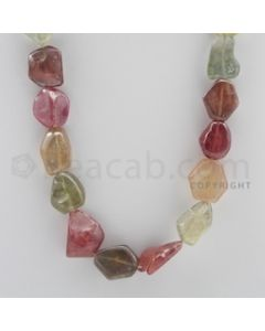 Multi-Sapphire Tumbled - 1 Line - 587.00 carats - 22 inches - (MSTUB1012)