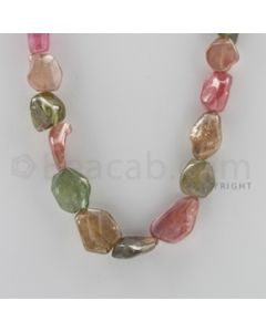 Multi-Sapphire Tumbled - 1 Line - 445.25 carats - 18 inches - (MSTUB1014)