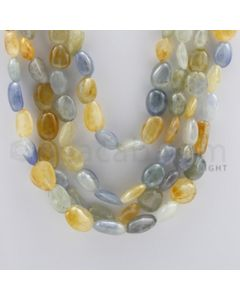 Multi-Sapphire Tumbled - 4 Lines - 1384.00 carats - 19 to 23 inches - (MSTUB1034)