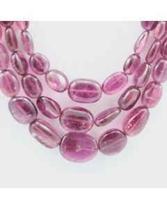 Pink Tourmaline Long Tumbled Beads - 3 Lines - 232.15 carats - 15 to 17 inches - (ToTub1014)
