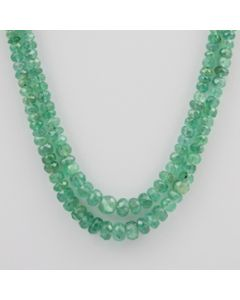 Emerald Faceted - 2 Lines - 99.50 carats - 18 to 19 inches - (EmFB1003)