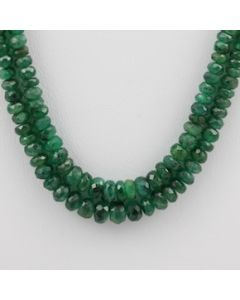 Emerald Faceted - 2 Lines - 82.50 carats - 14 to 15 inches - (EmFB1004)