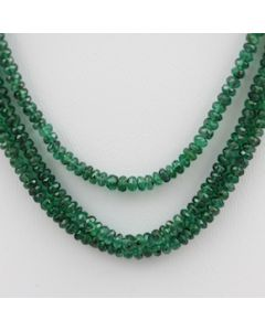 Emerald Faceted - 3 Lines - 80.00 carats - 15 to 16.5 inches - (EmFB1008)