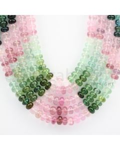 Multi-Tourmaline Roundel Beads - 5 Lines - 691.20 carats - 17 to 20 inches - (MTour1006)