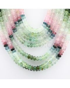 Multi-Tourmaline Roundel Beads - 8 Lines - 543.15 carats - 15 to 19 inches - (MTour1012)