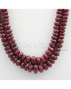 Ruby Faceted - 2 Lines - 392.90 carats - 18 to 19 inches - (RFB1003)