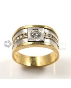 White Shape White Diamond Ring in 18kt Yellow Gold - 9.3 grams - EST1384