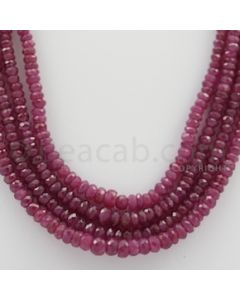 Ruby Faceted - 4 Lines - 227.09 carats - 19 to 21 inches - (RFB1016)