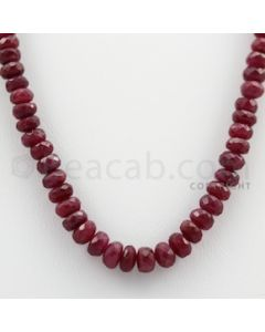 Ruby Faceted - 1 Line - 120.05 carats - 14.5 inches - (RFB1017)