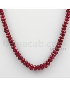 Ruby Faceted - 1 Line - 84.05 carats - 15.5 inches - (RFB1019)