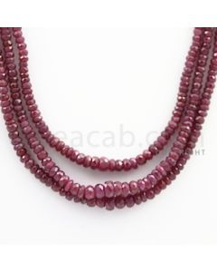 Ruby Faceted - 3 Lines - 160.15 carats - 16 to 17 inches - (RFB1020)