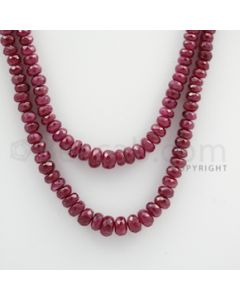 Ruby Faceted - 2 Lines - 182.25 carats - 18 to 20 inches - (RFB1011)