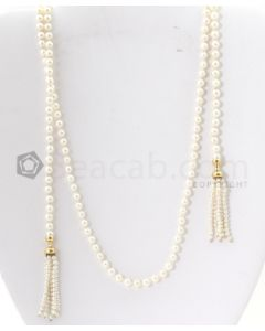 Cultured Pearl Ladys Lariot Style Necklace - EST1409