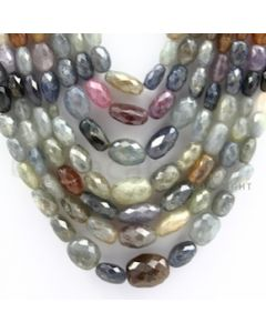 Multi-Sapphire Faceted Long Beads - 7 Lines - 1208.08 carats - 15 to 22 inches - (MSFLB1003)
