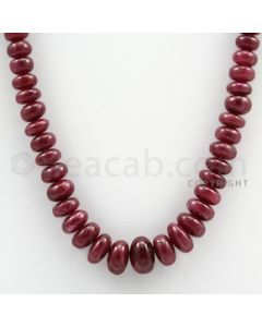 Ruby Roundel Beads - 1 Line - 232.75 carats - 18 inches - (RuRoB1006)