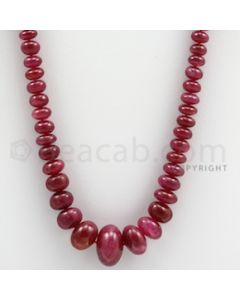 Ruby Roundel Beads - 1 Line - 193.00 carats - 20 inches - (RuRoB1018)