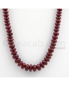 Ruby Roundel Beads - 1 Line - 250.00 carats - 20 inches - (RuRoB1009)