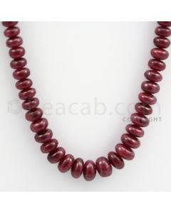 Ruby Roundel Beads - 1 Line - 233.00 carats - 17 inches - (RuRoB1011)