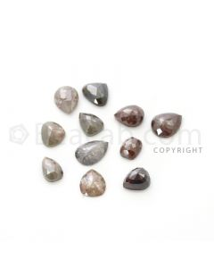 11 Medium Tones Diamond Mix Shape Rose Cut Diamonds - 22.78 cts. (DRC1247)