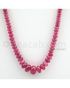 Ruby Roundel Beads - 1 Line - 85.50 carats - 17 inches - (RuRoB1016)