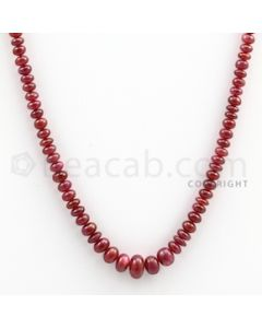 Ruby Roundel Beads - 1 Line - 86.00 carats - 14 inches - (RuRoB1012)