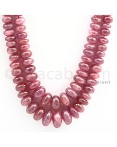 Pink Sapphire Roundel Beads - 2 Lines - 591.50 carats - 20 to 21 inches - (PnSRoB1002)