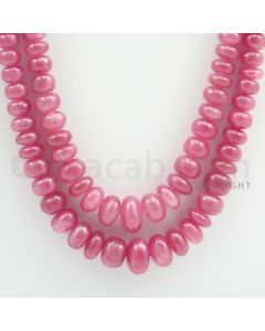 Pink Sapphire Roundel Beads - 2 Lines - 465.00 carats - 19 to 20 inches - (PnSRoB1003)