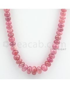 Pink Sapphire Roundel Beads - 1 Line - 244.10 carats - 20 inches - (PnSRoB1007)