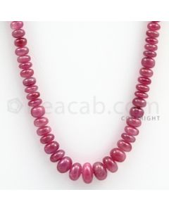 Pink Sapphire Roundel Beads - 1 Line - 214.20 carats - 18 inches - (PnSRoB1009)