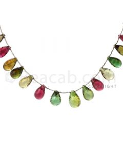 19 pcs - Medium Tones - Tourmaline Faceted Drops (AAA) - 112.50 cts. (TFD1006)