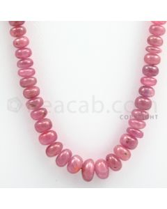 Pink Sapphire Roundel Beads - 1 Line - 218.00 carats - 19 inches - (PnSRoB1013)