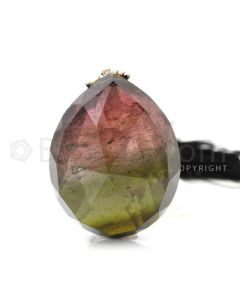 1 pc - Bi-Color - Tourmaline Faceted Drop (AAA) - 74.00 cts. (TFD1056)