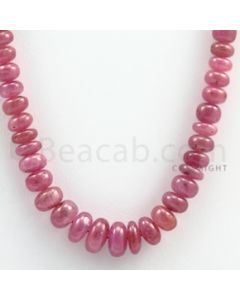 Pink Sapphire Roundel Beads - 1 Line - 225.50 carats - 18 inches - (PnSRoB1016)