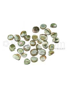 23 pcs - Watermelon (Bi-Color) Tourmaline Slices - 33.00 cts - 6.7 x 5.5 x 1.5 mm to 9.9 x 6.9 x 2.1 mm (TOUSL1062)