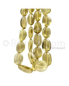 2 Lines - Yellow Citrine Tumbled Beads - 645.5 cts - 16 x 12.2 mm to 20.2 x 13.7 mm (CITTUB1005)