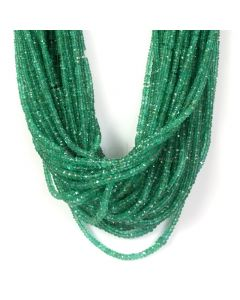 52 Lines - Medium Green Emerald Faceted Beads - 1224.00 - 2.3 to 5.8 mm (EMFB1039)