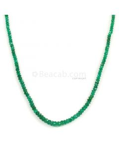 1 Line - Dark Green Emerald Faceted Beads - 30.00 - 2.3 to 4.3 mm (EMFB1103)
