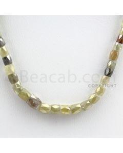 Fancy Diamond Cube Beads - 1 Line - 38.20 carats (FncyDiaCu1024)