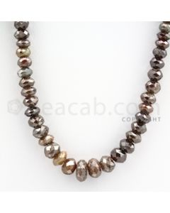 Faceted Fancy Diamond Beads - 1 Line - 141.11 carats (FncyDia1002)