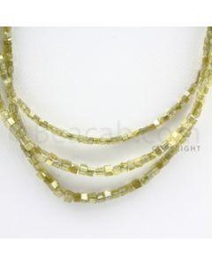 Fancy Diamond Cube Beads - 3 Lines - 53.00 carats (FncyDiaCu1021)