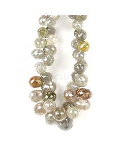 1 Line - Gray Diamond Drops - 83.00 cts - 3.8 x 3.2 mm to 8.1 x 6.8 mm (DIADRP1028)