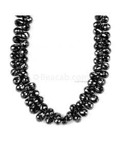 1 Line - Black Diamond Drops - 76.00 cts - 4.2 x 3.2 mm to 4.9 x 3.3 mm (DIADRP1027)