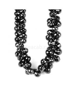1 Line - Black Diamond Drops - 126.00 cts - 5.2 x 4.3 mm to 7.2 x 5.6 mm (DIADRP1026)