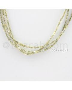 Fancy Diamond Cube Beads - 4 Lines - 61.50 carats (FncyDiaCu1022)