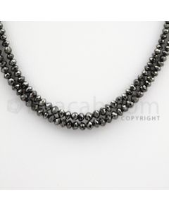 1.70 to 3.40 mm - Black Diamond Faceted Beads - 41.64 carats - 15 inches (BDia1014)