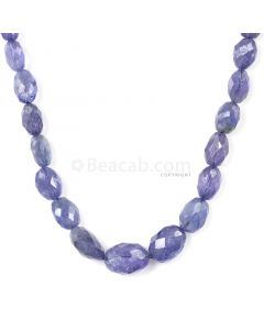 1 Line - Violet Tanzanite Faceted Tumbled Beads - 124.00 cts - 5.2 x 3.9 mm to 11 x 7.9 mm (TZFTUB1017)